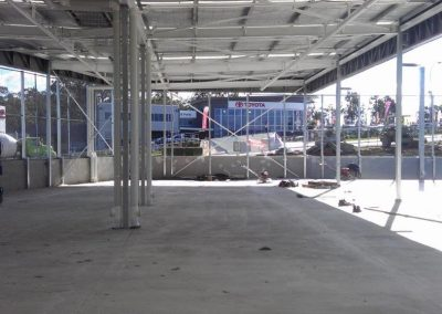 Bunnings singleton and carpark under construction