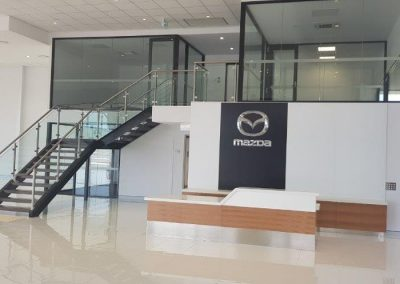 new showroom construction for Mazda and Nissan