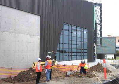 Construction workers and management at Nepean Hospital