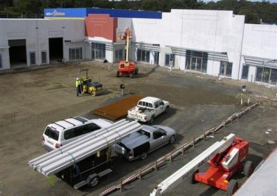 Kincumber Industrial Building Project Management with vehicles at work
