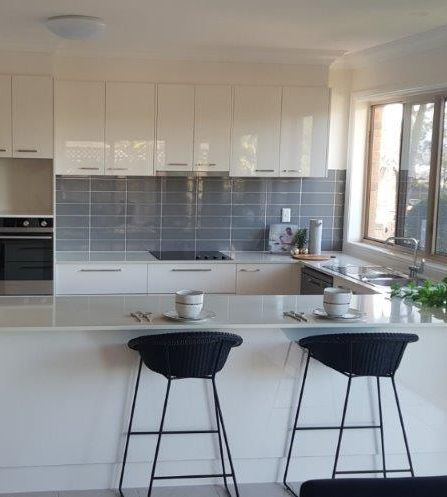 kitchen of refurbished retirement living home